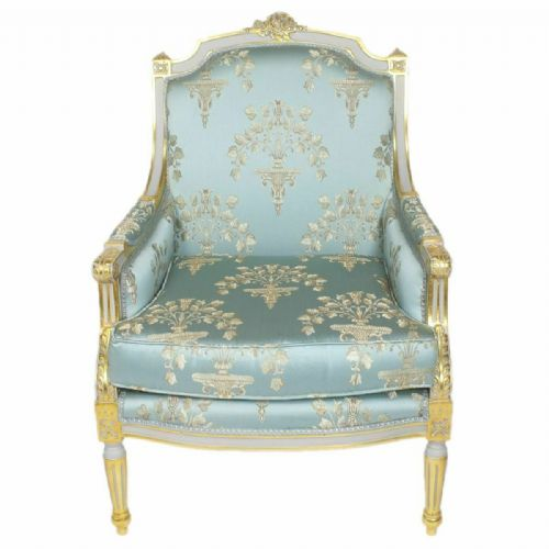 ARMCHAIR - PALACE BAROQUE STYLE ARMCHAIR NAPLES #MB260BL